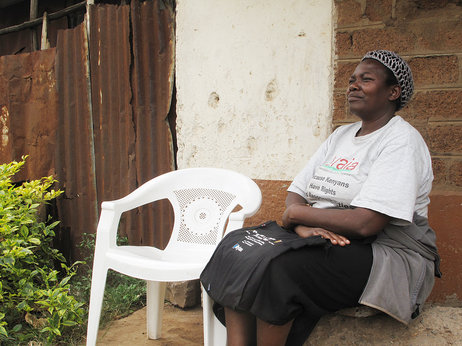 If you live near Helen Onyango, odds are she's knocked on your door and asked to take your blood pressure. The community health worker herself suffers from hypertension.  Photo Credits: Gregory Warner/NPR