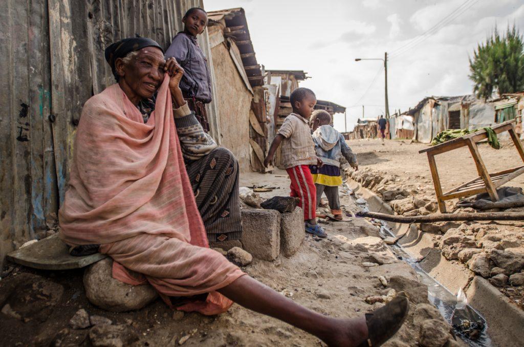Elderly lady in Viwandani